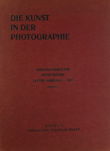 Journal Cover: Die Kunst in der Photographie 1906-1907