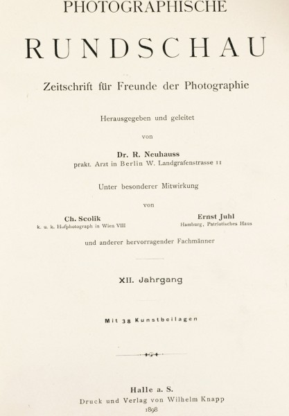 Photographische Rundschau : 1898