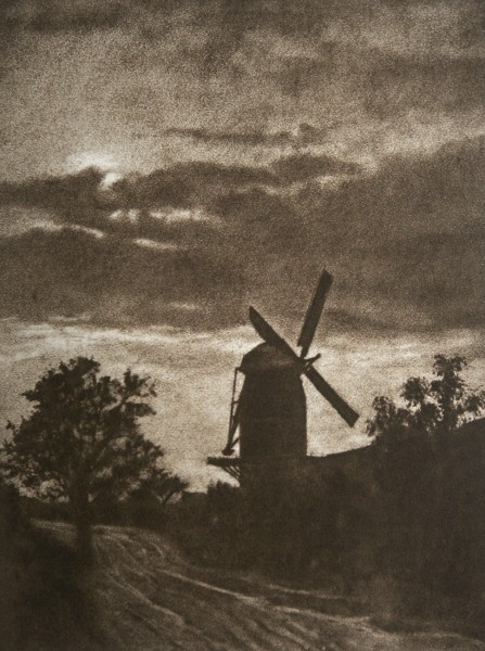 Untitled Landscape with Windmill