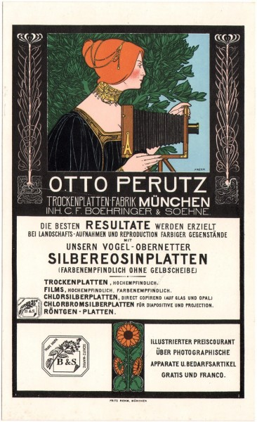 Otto Perutz Lithographic Advertising Card