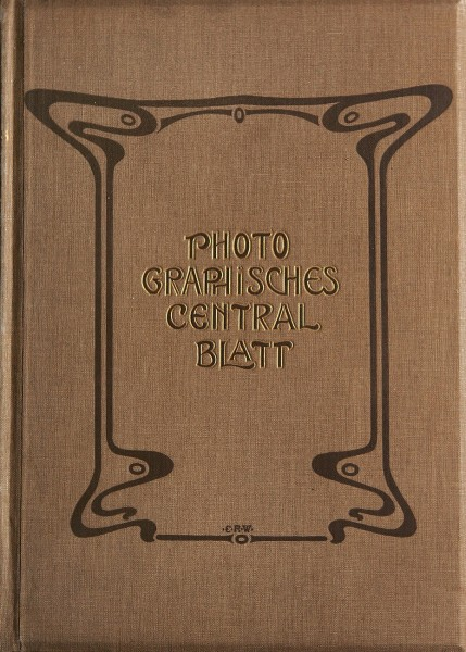 Journal Board Cover: Photographisches Centralblatt 1899