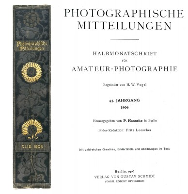 Photographische Mitteilungen: 1864-1911: A Lasting Legacy to German photochemist Hermann Wilhelm Vogel