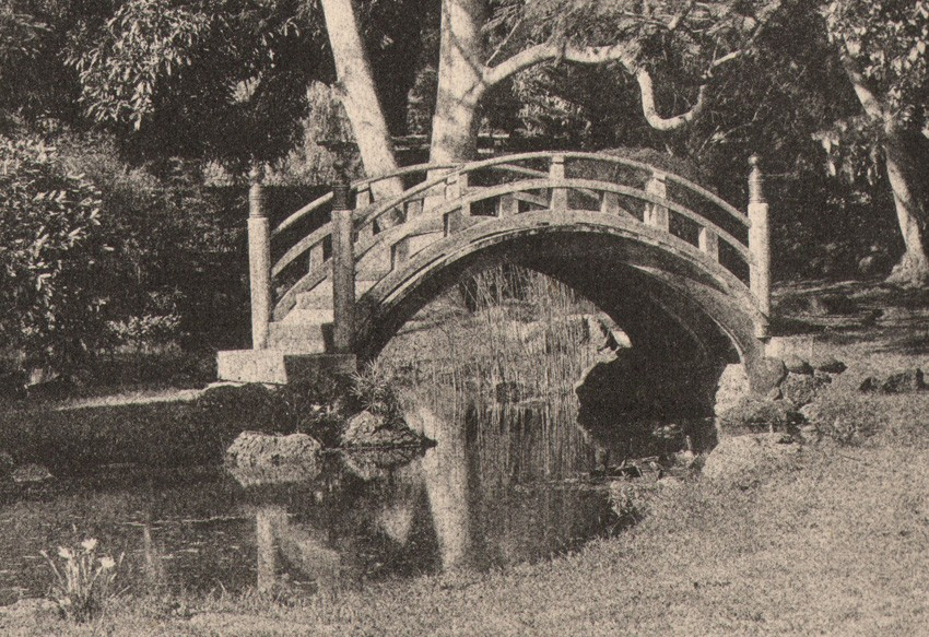 Delighful Japanese Garden Bridge Drawing A To Decorating Ideas