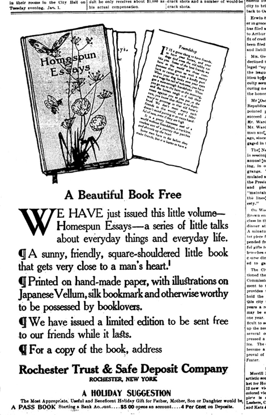 blog photoseed homespun essays newspaper ad 1906 6sw this advertisement