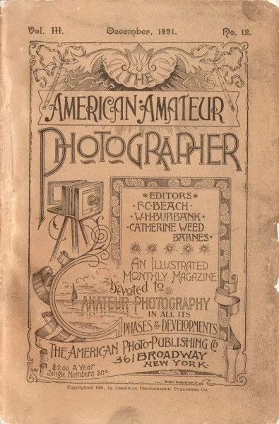 Cover: The American Amateur Photographer: 1891