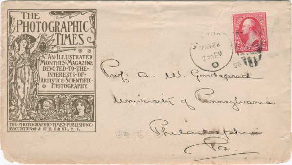 Postal Cover: The Photographic Times