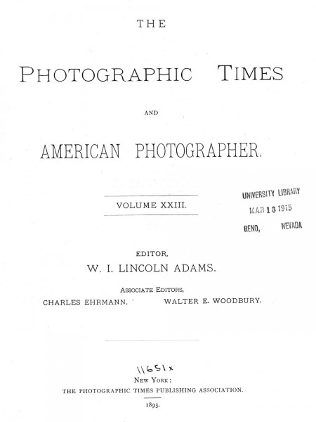 The Photographic Times: 1893: June-December