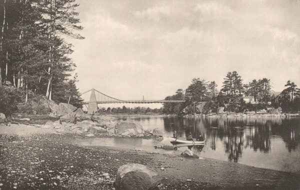 The Chain Bridge at Newburyport, Mass.
