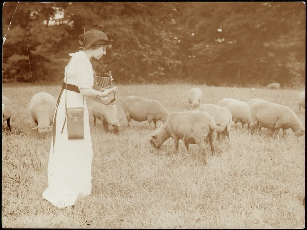 Kodak Girl in Sheep Field