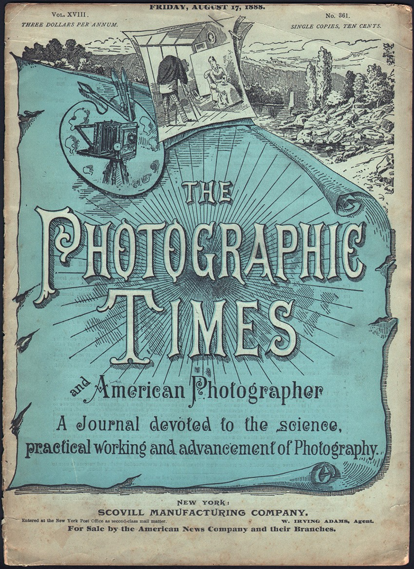 blog photographic times cover friday august 17 1888
