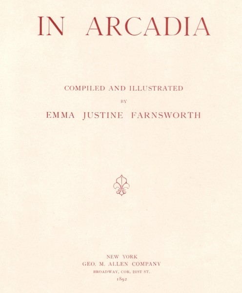 Title Page: In Arcadia