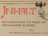 Contents : Society for the Promotion of Photography in Lepizig
