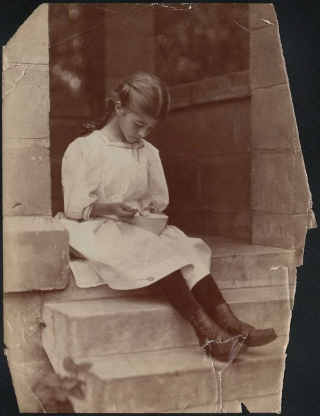 Dorothy Tucker seated on Steps