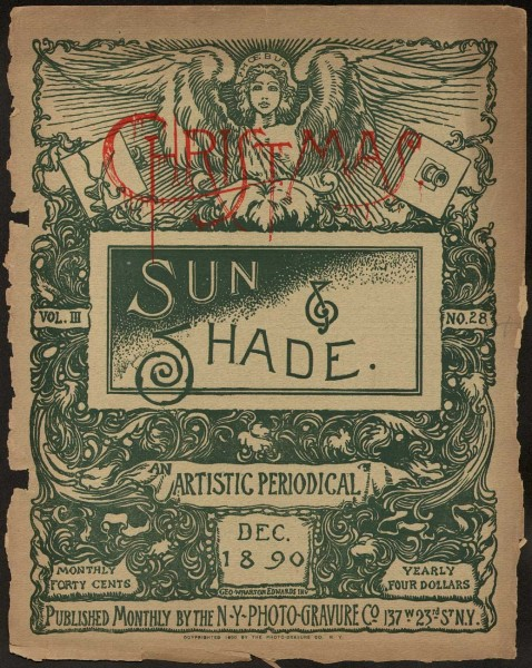 Sun & Shade: An Artistic Periodical Christmas Cover