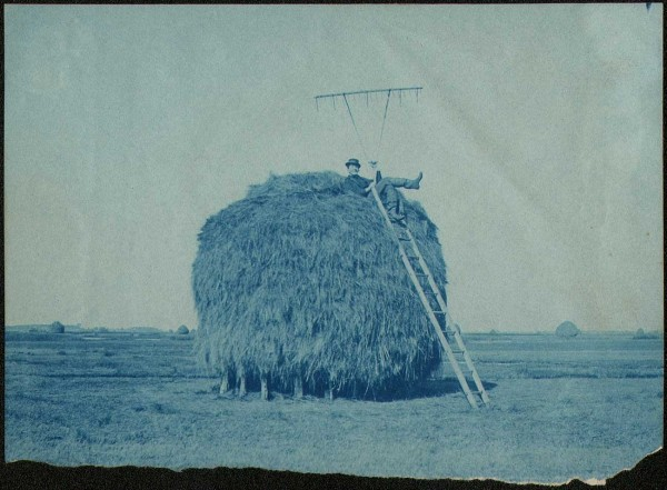 Farmhand atop Salt Marsh Haystack
