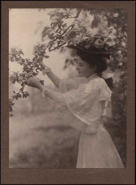 Mary Tucker with Apple Blossoms