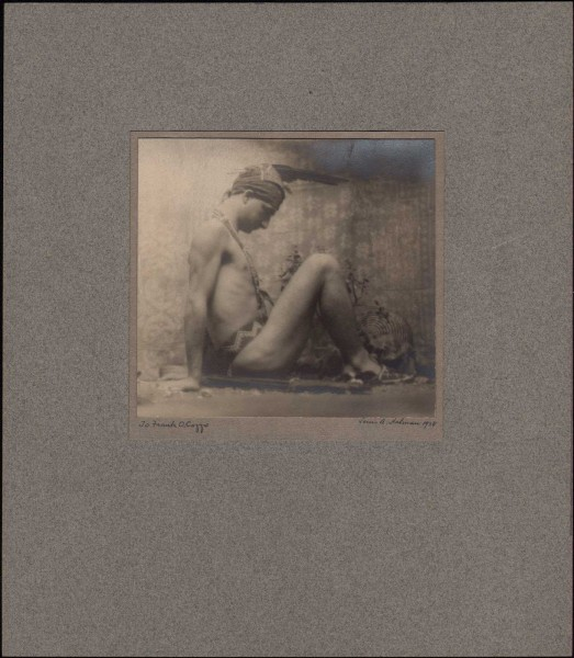 To Frank O. Cozzo: Male Nude Figure Study in Profile