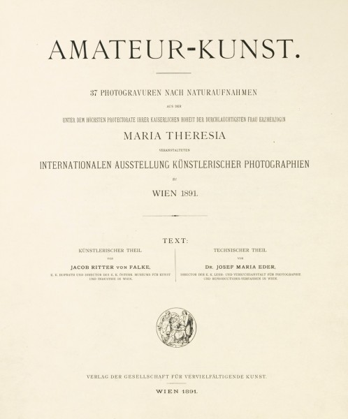 Amateur-Kunst: 1891 Vienna Exhibition