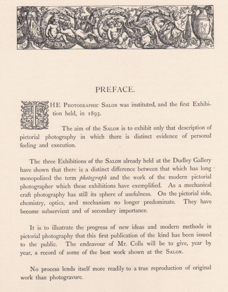 Pictorial Photographs : A Record of the Photographic Salon of 1895