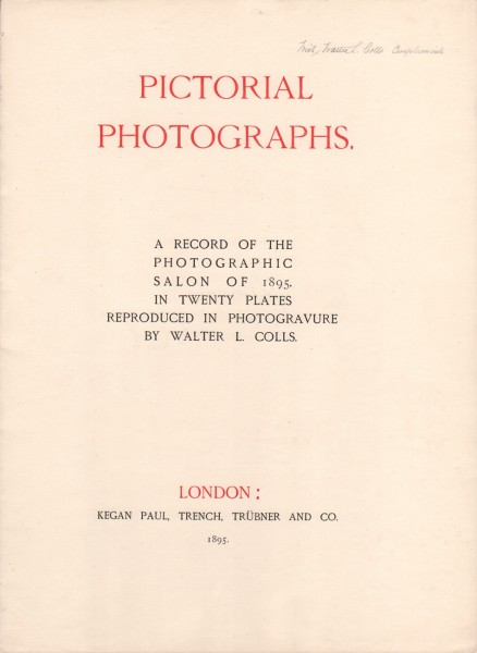 Title Page: Pictorial Photographs 1895