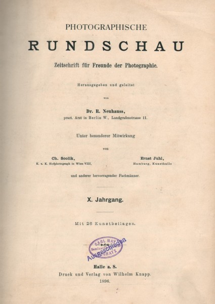 Photographische Rundschau : 1896