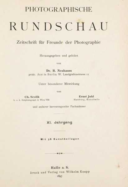 Photographische Rundschau : 1897