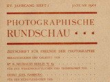 Journal cover:  Photographische Rundschau- January, 1901