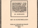 Title page:  Photographische Rundschau- 1908