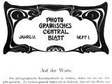 Mission Statement: Photographisches Centralblatt 1900