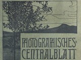 Journal Cover: Photographisches Centralblatt 1899