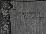 Journal Cover: Photographische Mitteilungen 1899
