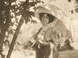 Unidentified Woman Holding Parasol