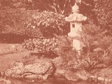 Japanese Tea Garden Pond with Kasuga Stone Lantern