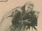 Girl with Tripod-Mounted Field Camera