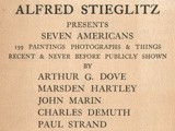 Alfred Stieglitz Presents Seven Americans Exhibition Catalogue