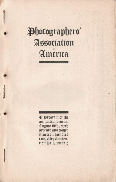 Program: Photographers' Association of America, 1902