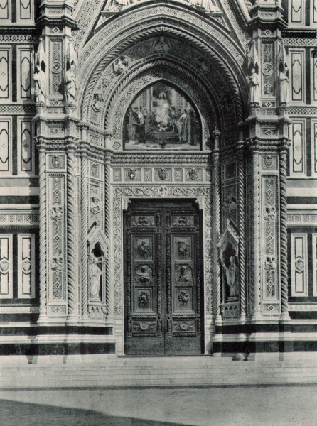 Door of the Duomo of Florence, Italy