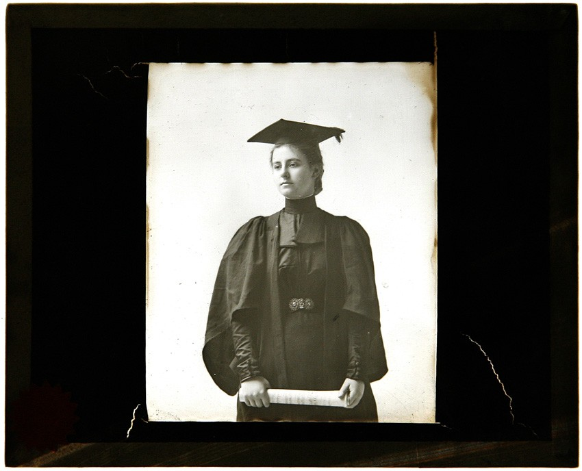 james-lawrence-breese-woman-graduate-holding-diploma