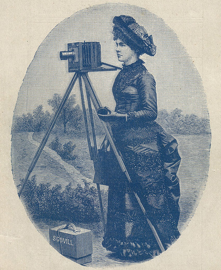 scovill-plate-camera-lady-amateur-how-to-make-photographs-scovill-adams-1889
