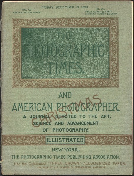 Cover: The Photographic Times: 1890