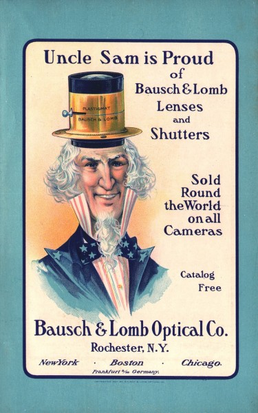 Uncle Sam is Proud of Bausch & Lomb Lenses and Shutters