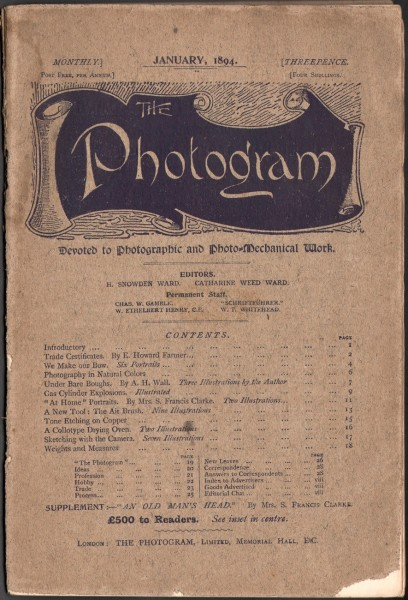Cover: The Photogram : 1894