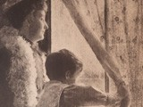 Woman and Child Looking out Window