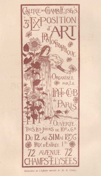1896 Exposition d'Art Photographique Salon Catalogue