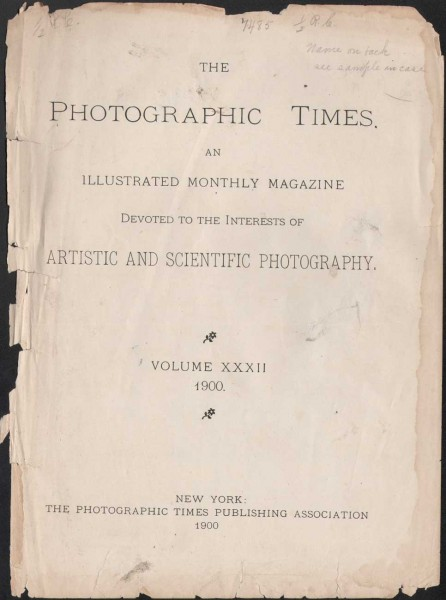 The Photographic Times: 1900