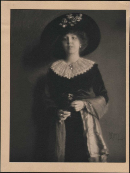 Chicago Socialite with Flower: Marjorie or Rosepha P. Chisholm