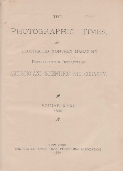 The Photographic Times: 1899