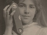 Dorothy Tucker with Kodak 3A Folding Pocket Camera