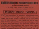 Advertisement: Woodbury Permanent Photographic Printing Co.