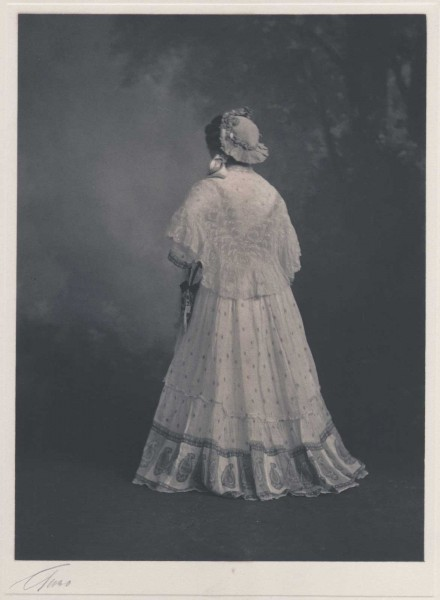 Model in Edwardian Dress